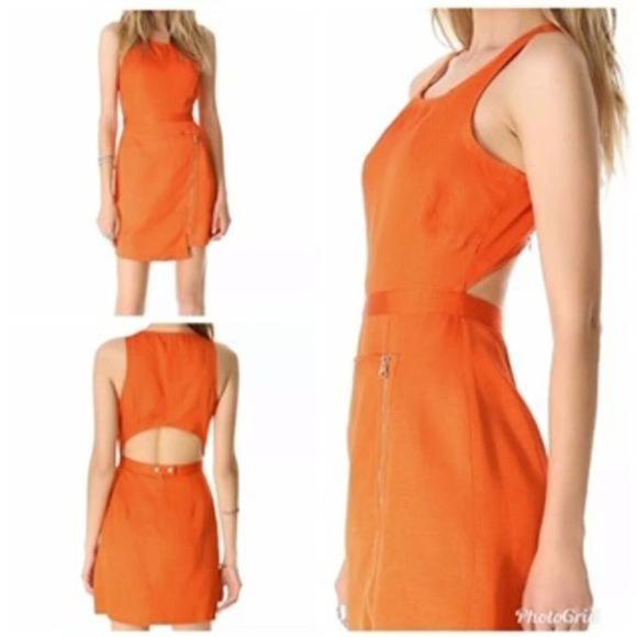 Stylestalker Orange Power Forward Dress US Size 4